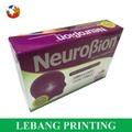 Impressão de cor cheia eco- friendly embalagens farmácia pílula caixa