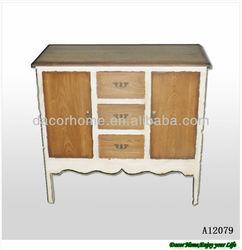 Wood Shabby Chic Storage Cabinet