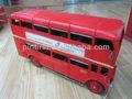 red novidade dupla deckers ferro artesanato modelo de ônibus