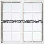 Foshan factory price grill design pvc sliding windows