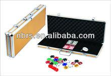 500 pieces poker chip set in a professional durable casino aluminium case