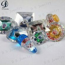 Fancy cut synthetic gems diamond in diamond