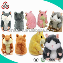 Plush talking hamster toy &Custom colorful talking Hamster Repeating product