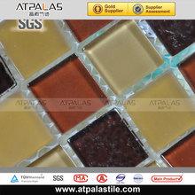 Mixed colors 3D Wall decoration crystal bathroom/swimming pool mosaic