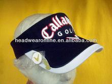 embroidery golf and visors golf sun visors