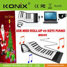 sell new 61 Keys Flexible Keypad Portable Roll Up MIDI Electronic Digital Keyboard Piano