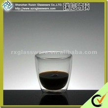 2014 hot selling A Series Of Unique And Elegant Double Wall Borosilicate Glass Drinking