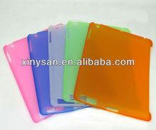 Soft TPU Partner Case For ipad2/ipad3/ipad4, matte smart cover partner case - transparent color