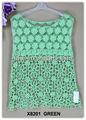 El más reciente de la ropa de la mujer, de encaje de ganchillo t camisa& algodón bordado blusa