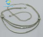 rhinestone silver waist chains