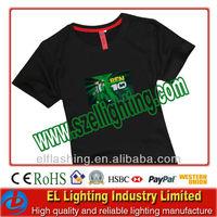sound control led flashing EL T-shirt