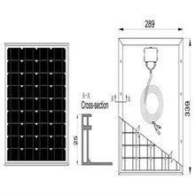 2013 Energy-saving 10W Mono Crystalline Silicon Solar Panel
