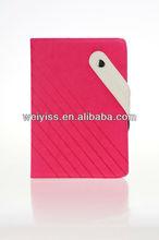 Pink High Quality Fashion Folio Flip Leather Sleeve For iPad Mini