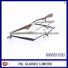 Optical Frames + Half-rim Acetate Decorations Eyewear (MW0100)