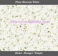 Polido branco bancada de pedra de quartzo