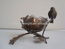metal bird nest candle holder lucky art home decor handmade home decoration pieces decorative art and craft