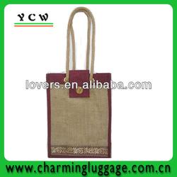 2013 Newest jute wine bag,bottle jute wine tote bag