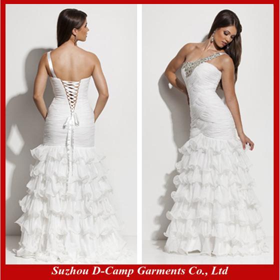 Prom Dress Ruffles Oc-1814 Ruffled Bottom Prom
