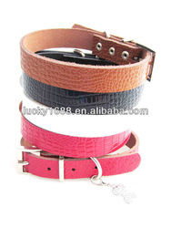 2012 fashion Top Quality!100% Real Cow Leather Bone Pet Collar