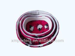 Fashion Beautiful Red Pattern Polar Fleece Pet Bed For Dog