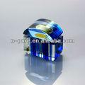 azul de vidrio de cristal botella de perfume