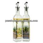 Custom Design Glass Cruet Set for oil and vinegar