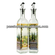 Custom Design Glass Cruet Set for oil and vinegar