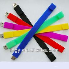 More option Silicone Bracelet USB memory Custom logo 2gb(LH-644)