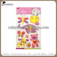 3D075 glitter vinyl handmade sticker/glitter sticker