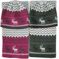 Sombreros de invierno- de acrílico del telar jacquar invierno tapa sombrero bufanda conjunto de ciervos de navidad sombrero