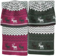 Winter Hats - Acrylic Jacquard Winter Hat Cap scarf set Christmas Deer Hat