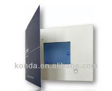 "Konda Factory Nice video greeting card , 2.4"" 2.8"" 3.5"" 4.3"" 7"" TFT LCD screen optional"