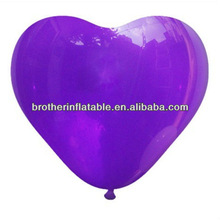 Purple pearlized heart shaped wedding latex balloon