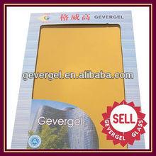 golden refelctive glass
