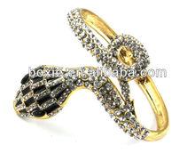 western snake design metal bracelet/Spiral Bracelet/fold-over bracelet
