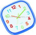 sala de artesanato relógio de parede quadrado azul frame relógio de parede