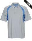 Dri fit polyester mens sport polo shirt with custom logo