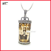 Free Shipping Fancy Design 925 Silver Pendants For Cool Girls(MT13040385)