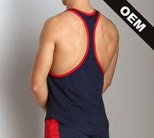 100% cotton men's Racer back customize running singlets
