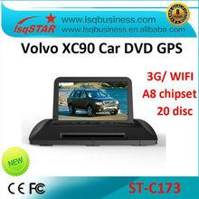 A8 Chipset S100 platform car radio for volvo xc90 with 3G WIFI GPS /BT/TV/Radio/20 Disc CDC/IPOD/3-Zone POP/3D Flash