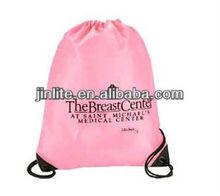 cheap drawstring promotional polyester shopping bag