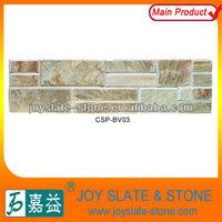 Rusty slate stacked wall cladding stone/ cultured stone, decorative stone wall panel/decorative tv wall