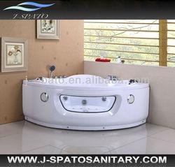 White Acrylic Solid Surface Tub,2 Person Sex Massage Spa Tub
