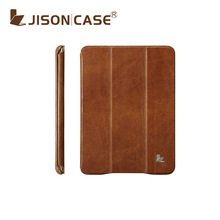 for ipad mini case genuine leather new arrival in brown color
