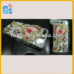 3D Bling Luxury Design Rhinestone butterfly Diamond Case For Iphone 5 5G