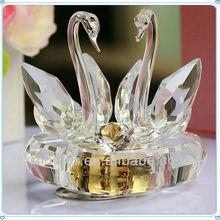 K9 Crystal Swan Music Box Gifts For Wedding Souvenir