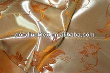 shiny polyester Jacquard satin/satin fabric textile for curtain hometextile/dress