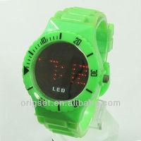 2015 plastic strap new LED watch fashion custom logo
