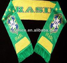Brazil sport promotional fan polyester scarf stock