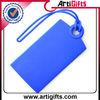 Silicone blank luggage tag